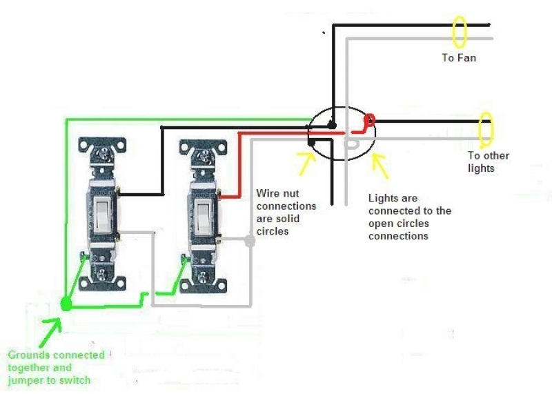 Wiring Diagram For Double Light Switch : Wiring diagram for dual light switch comvt inside double