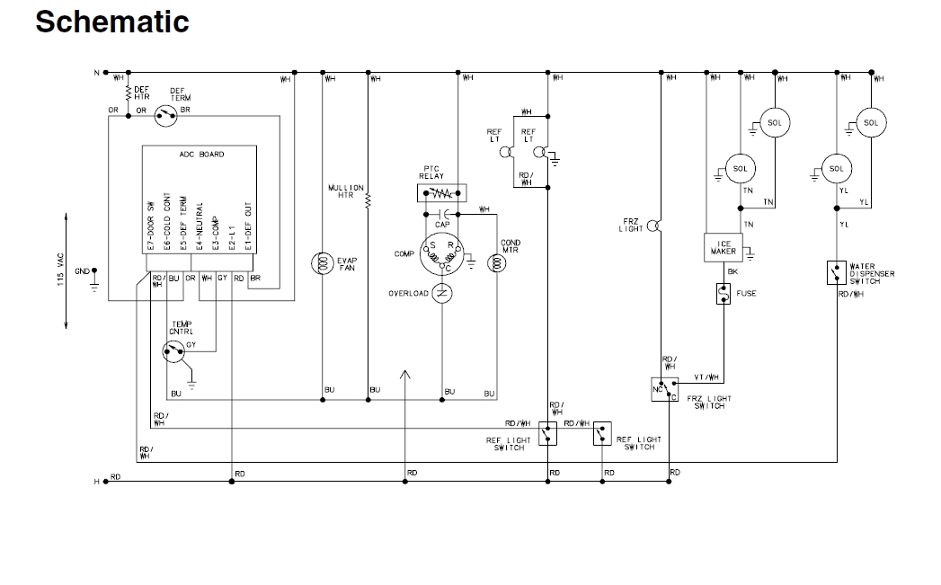 wiring diagram for kenmore refrigerator with regard to kenmore elite refrigerator wiring diagram kenmore refrigerator wire diagram diagram wiring diagrams for  at soozxer.org