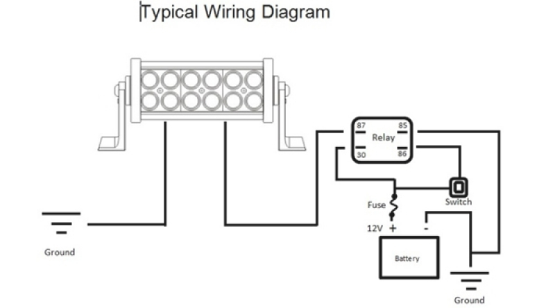 Wiring Diagram For Led Light Bar – Comvt with Led Wiring Diagram
