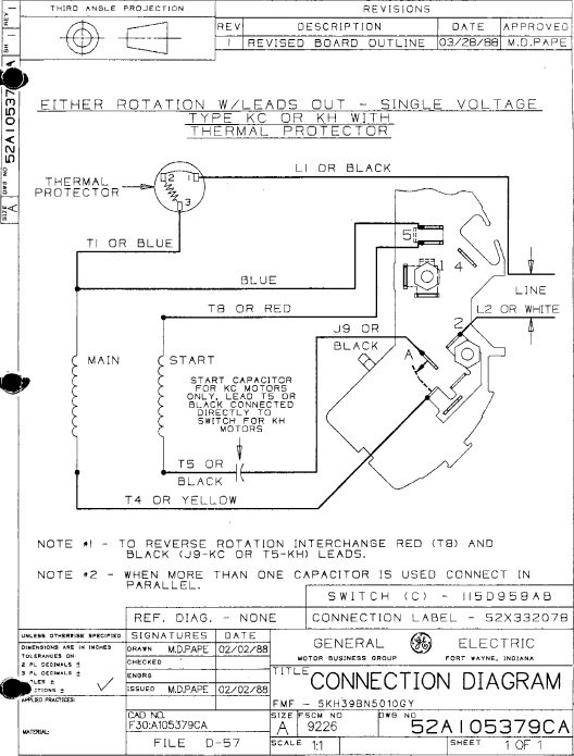 Wiring Diagram For Ge Electric Motor : Marathon electric motor wiring diagram fuse box and