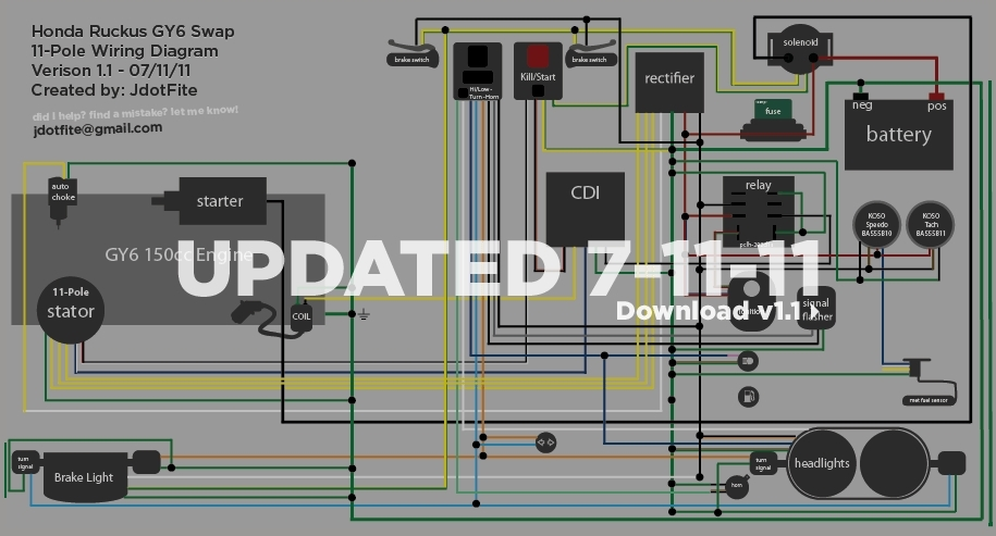 Wiring Diagram Gy6 Scooter | Alexiustoday within Gy6 Wiring Diagram