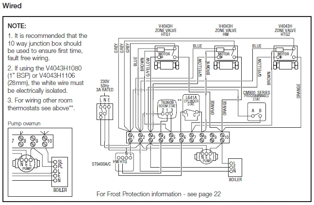 Wiring Diagram S Plan Heating System Central Heating Wiring within Central Heating S Plan Wiring Diagram