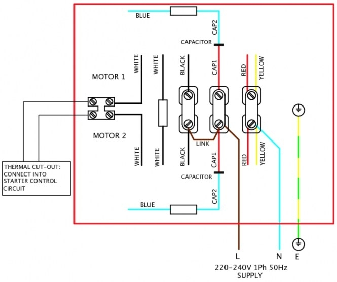 Wiring Diagram Single Phase Dol Starter Circuit | Alexiustoday with regard to Electric Motor Wiring Diagram Single Phase