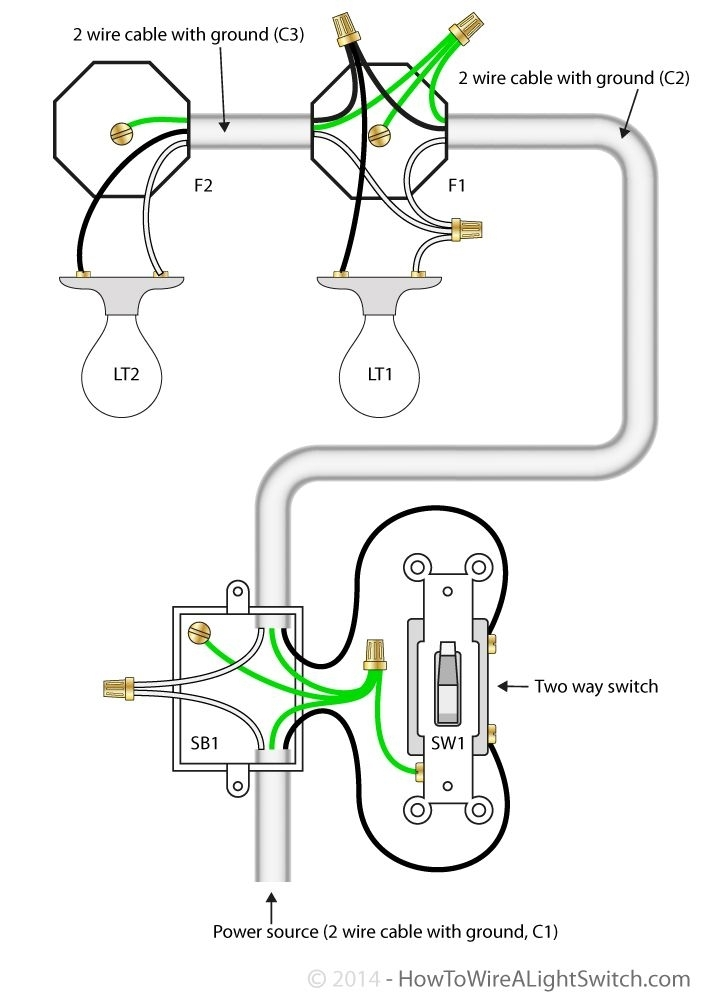 1 switch 2 lights wiring diagram