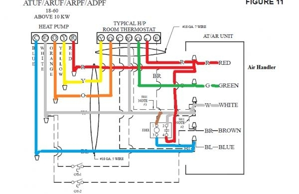Wiring Honeywell 7500 Thermostat - No Heat - Doityourself in Goodman Air Handler Wiring Diagram