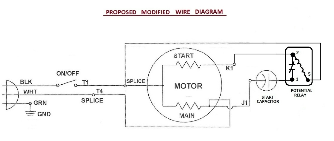 wiring run capacitor  wiring diagram images database