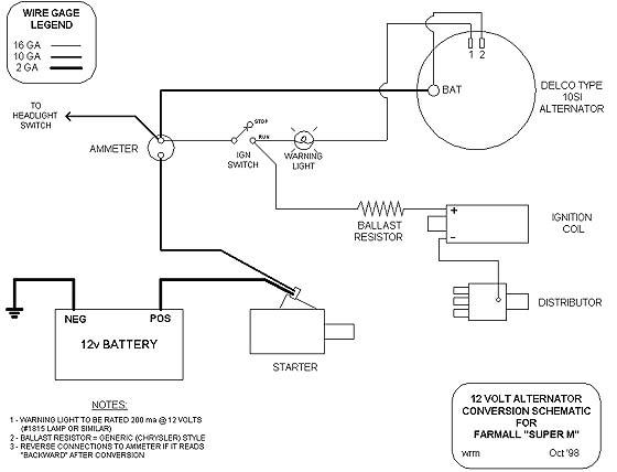 Yesterday's Tractors - Step By Step 12-Volt Conversion within Gm 3 Wire Alternator Wiring Diagram