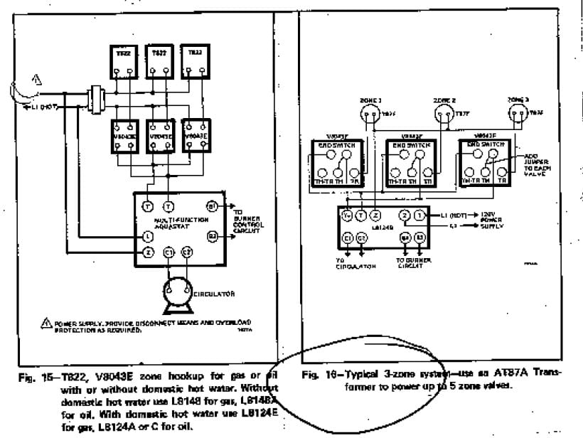 honeywell 2 port valve wiring diagram