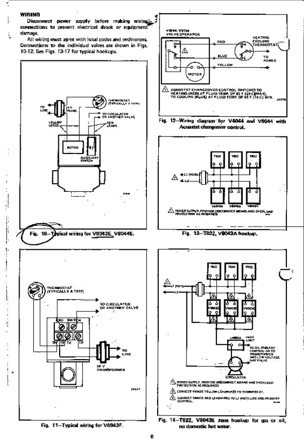 Zone Valve Wiring Installation & Instructions: Guide To Heating pertaining to Honeywell Zone Valve Wiring Diagram