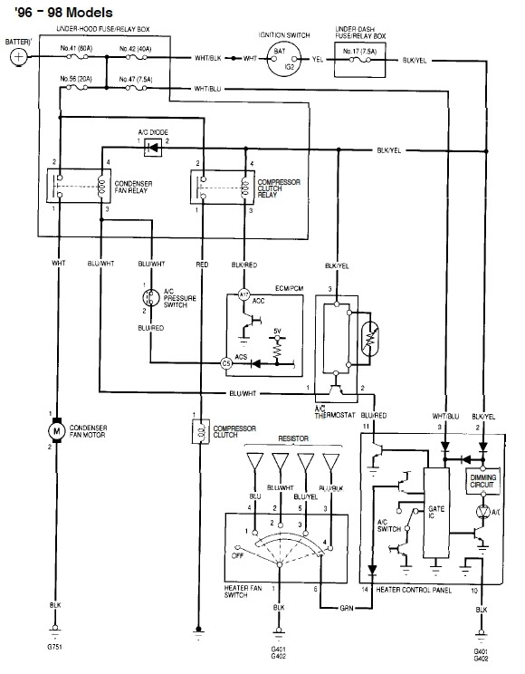 Wiring Diagram Honda Civic 2010 : Honda civic ac wiring diagram fuse box and