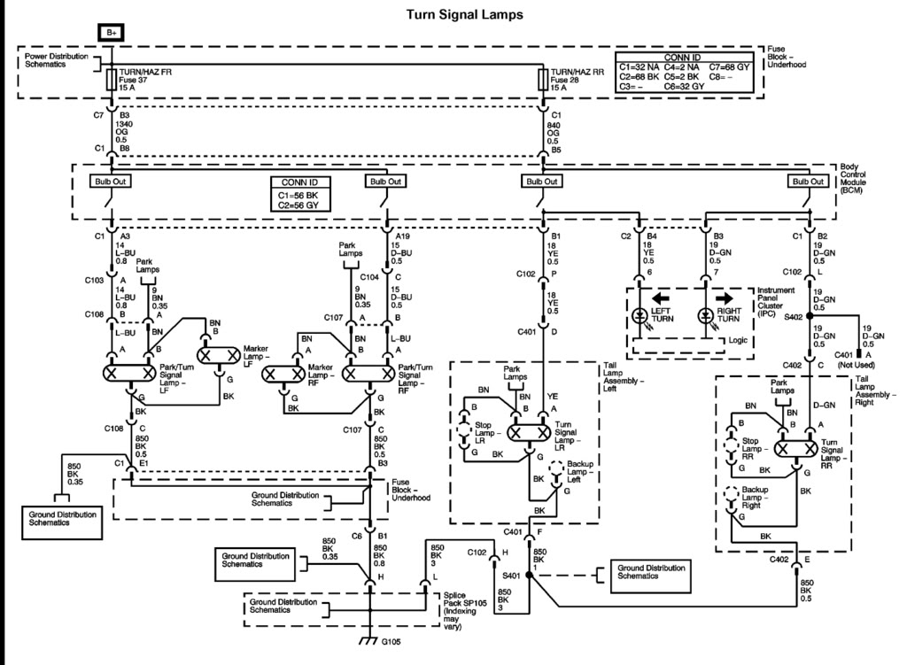 gmc sierra headlight wiring diagram 35 wiring diagram GMC Truck Electrical Wiring Diagrams 2005 GMC Sierra Wiring Diagram