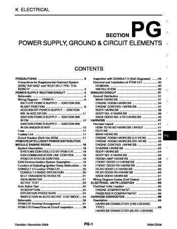 2006 Infiniti Qx56 - Power Supply, Ground & Circuit Elements for 2007 Infiniti Qx56 Electrical Wiring Diagram