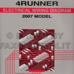 2007 Toyota 4Runner Wiring Diagram Manual Original regarding 2007 Toyota 4Runner Wiring Diagram