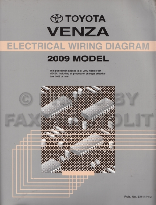 2009 Toyota Venza Wiring Diagram Manual Original regarding 2009 Toyota Venza Wiring Diagram