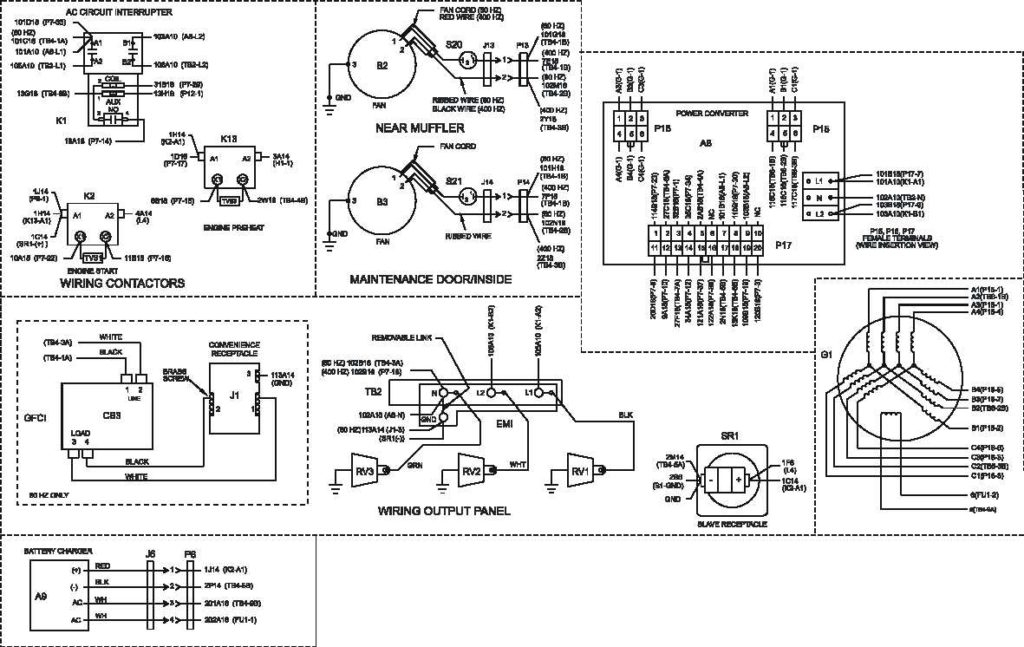3 Phase Generator Wiring Diagram With Army Tm 9 6115 639 13 Air for 3 Phase Generator Wiring Diagram