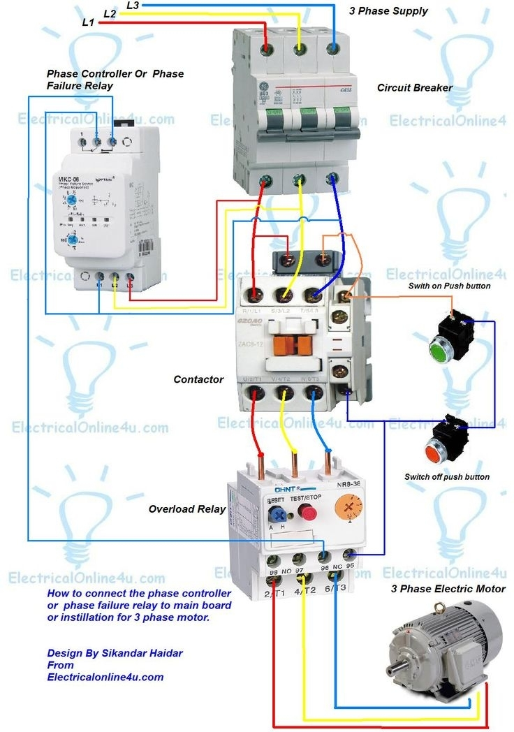 electrical contactor wiring diagram 3 phase motor wiring diagram contactor relay | fuse box ...