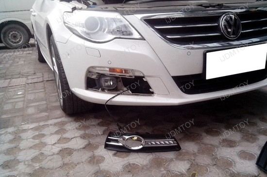 How To Install Volkswagen Cc Direct Fit Led Daytime Running Lamps in 2009 Vw Cc Wiring Diagram