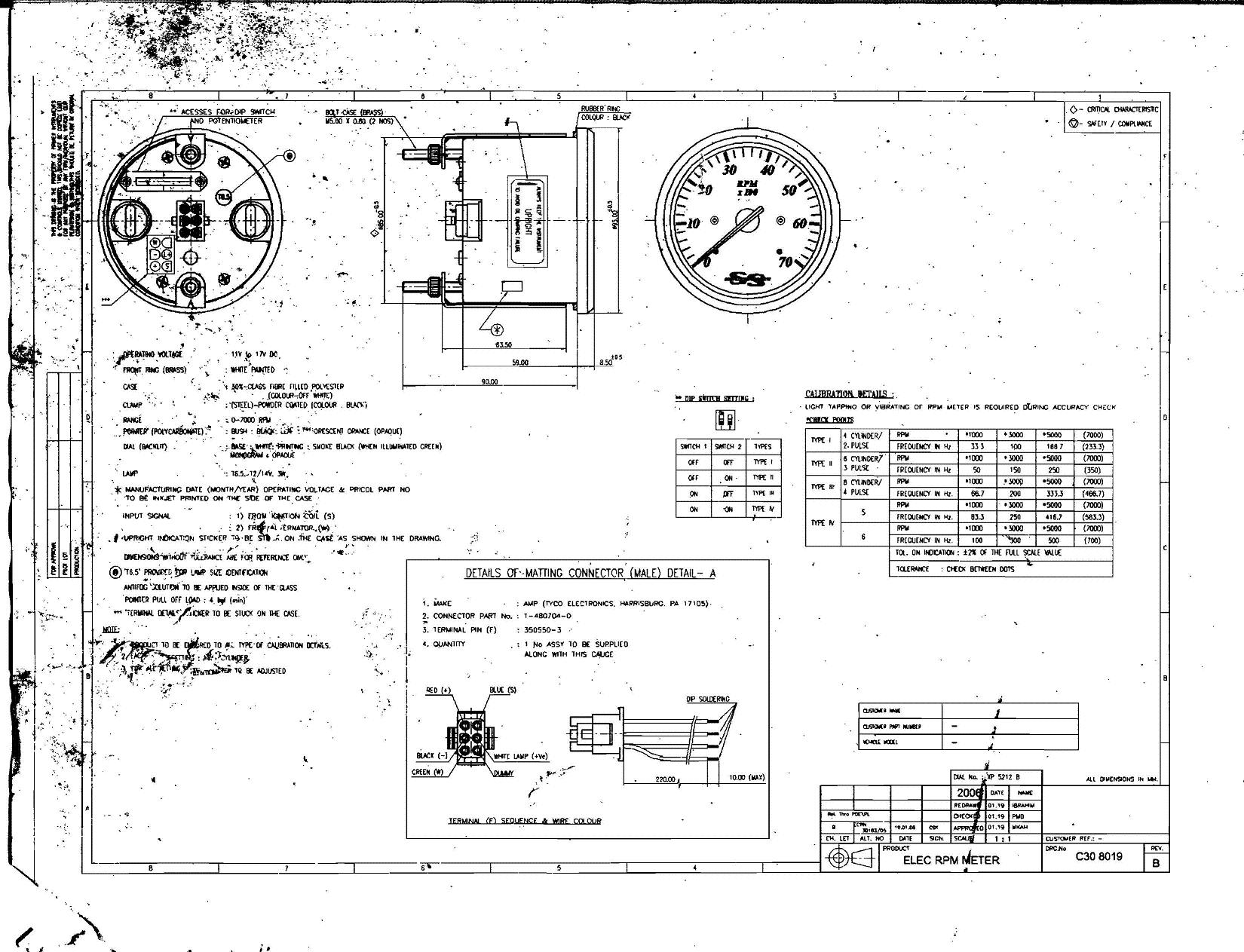 "Amount Of ""poles"" For 1990 90Hp Engine? For Tach Setup Page: 1 pertaining to Boat Gauge Wiring Diagram For Tachometer"