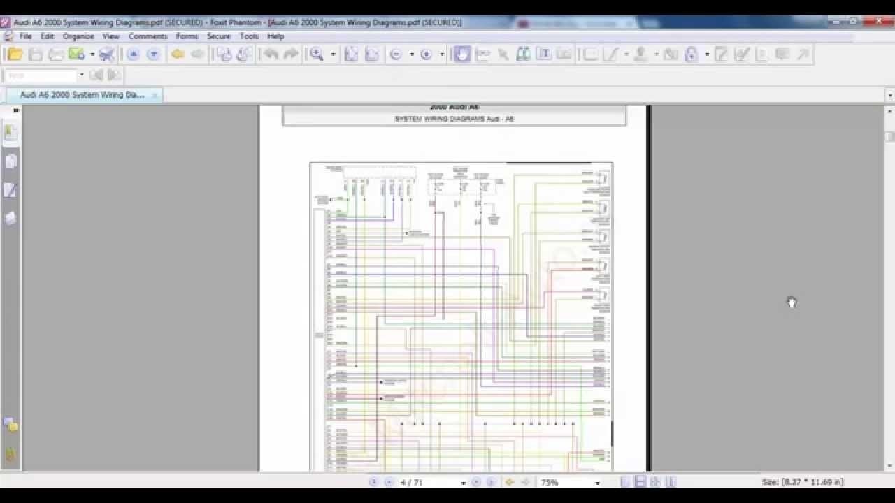 Audi A6 2000 System Wiring Diagrams - Youtube for Audi A6 Wiring Diagram