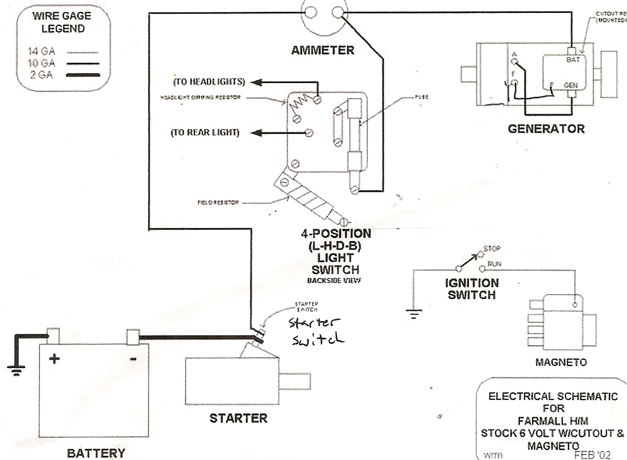 Generator Wiring Diagram And Electrical Schematics : Ford tractor electrical wiring diagram parts and