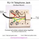 How To Wire A Phone Jack (Voice Or Telephone Rj-11 Thru Rj-14 pertaining to Basic Telephone Wiring Diagram